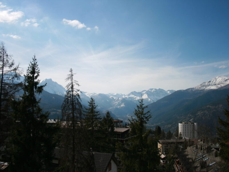 View from Belvedere, modern luxury apartment accommodation in Sauze d'oulx, ski holiday