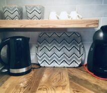 coffee machine, modern luxury at Casa della Mamma ski holiday apartment central Sauze d'Oulx