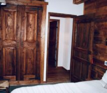 Chalet Clotes, bedroom , luxury apartment accommodation ski in ski out sauze d'Oulx