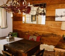 Chalet Clotes, dining room, luxury apartment accommodation ski in ski out sauze d'Oulx