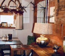 Chalet Clotes, kitchen, luxury apartment accommodation ski in ski out sauze d'Oulx