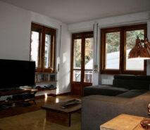 Living room Capanna lipi sauze d'oulx modern ski apartment accommodation