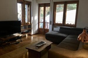 Living room Capanna lipi sauze d'oulx ski apartment accommodation