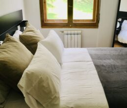 Modern luxury bedroom of ski holiday apartment Belvedere in Sauze d'Oulx