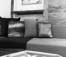 modern luxury, chalet style cosy area apartment Casa della Mamma, Sauze d'Oulx ski holidays