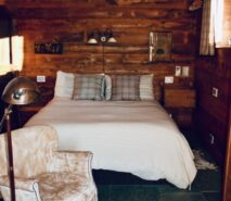Chalet Clotes, bedroom , luxury apartment accommodation, ski in ski out sauze d'Oulx
