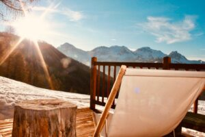 Chalet Clotes, the best view, luxury apartment accommodation ski in ski out sauze d'Oulx