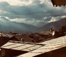 the best views from ski apartment Casa della Nonna, chalet ski sauze d'Oulx