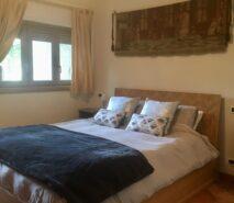 Main bedroom in Biancaneve, ski holiday apartment in Sauze d'Oulx, Via Lattea